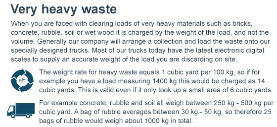 Dispose of Heavy Waste across W3